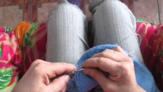 Вязание спицами: штанишки для малышки, 2 часть