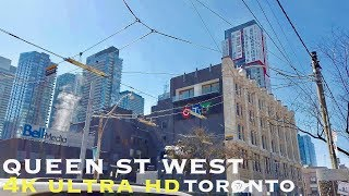 Queen St West Walk (walking tour 4k)
