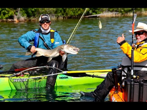 How to fish for lake trout from a kayak youtube for How to fish for trout in a lake