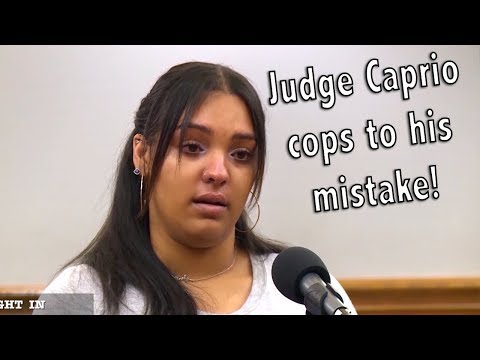 Mommy is guilty & Judge Caprio cops to his mistake!