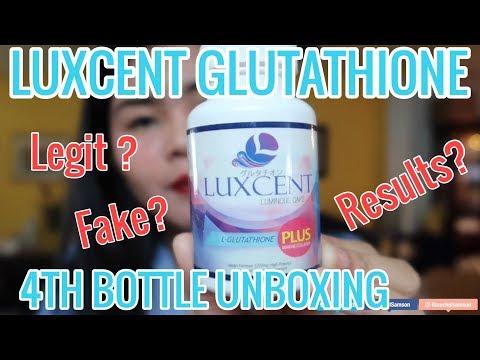 LUXCENT GLUTATHIONE 4TH BOTTLE KO NA| FAKE LUXCENT 😓
