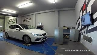 Seat Leon 2.0 tdi 184cv Reprogrammation Moteur @ 217cv Digiservices Paris 77 Dyno