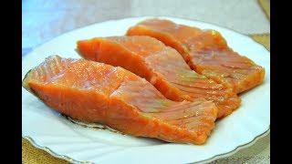 Как засолить малосольную красную рыбу - быстрый и простой рецепт./How to pickle fish.
