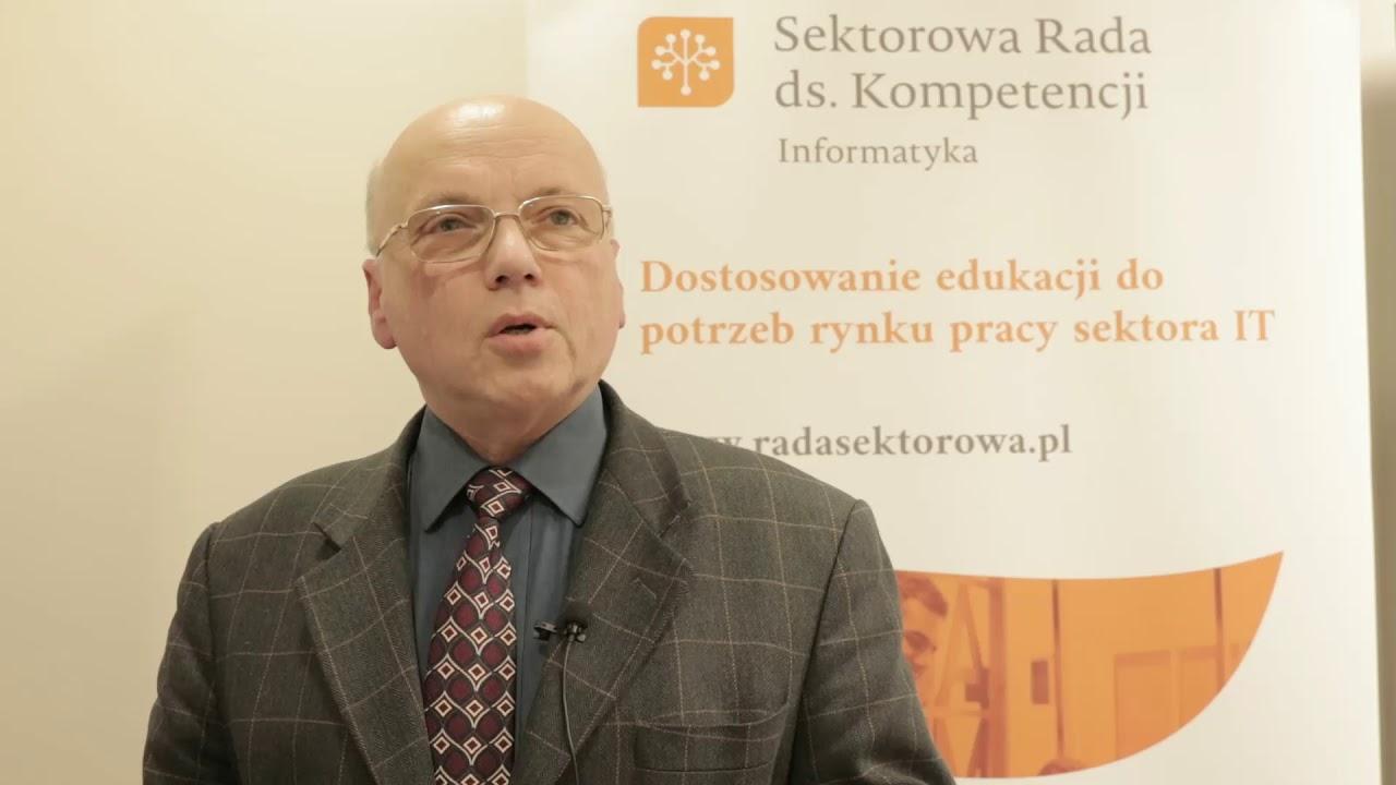 VII posiedzenie Sektorowej Rady ds. Kompetencji Informatyka, J. Wojnarowski