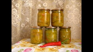 Заготовки на зиму  Салат из зелёных помидоров