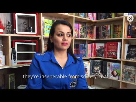 Baghdad's literary revival stars young female bookseller