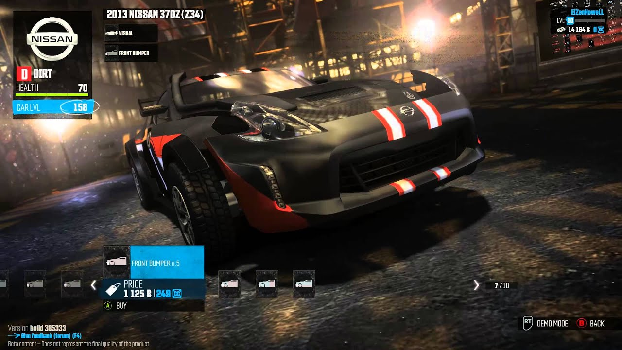 The Crew Beta Event 4 Nissan 370z Dirt Spec Visual