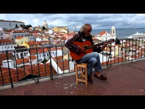"""Coimbra"" - Fado guitarist in Alfama, Lisbon"