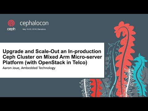 Upgrade and Scale-Out an In-production Ceph Cluster on Mixed