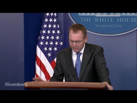 Mulvaney Says OMB is Preparing for a Government Shutdown