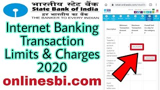 SBI Internet Banking Transaction Limits & Charges 2020 | How To Check SBI Transaction Limit
