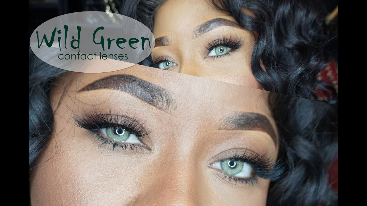 ebony green eyes