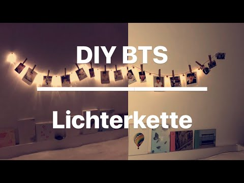 DIY BTS Photo Chain Of Lights I DIY BTS Lichterkette Mit Fotos I Marina Si