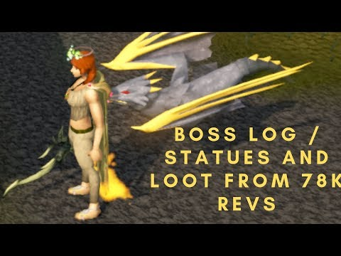 Runescape 3 - Revenant Dragon Achieved and Log/Statues/Drops