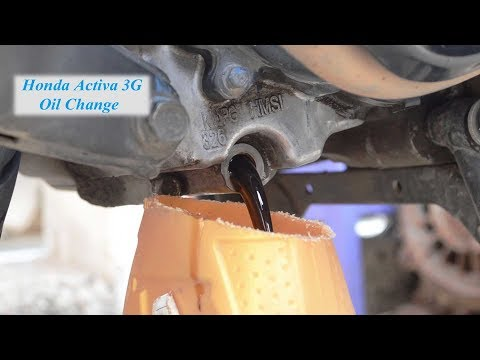 Honda Activa 3G Oil change