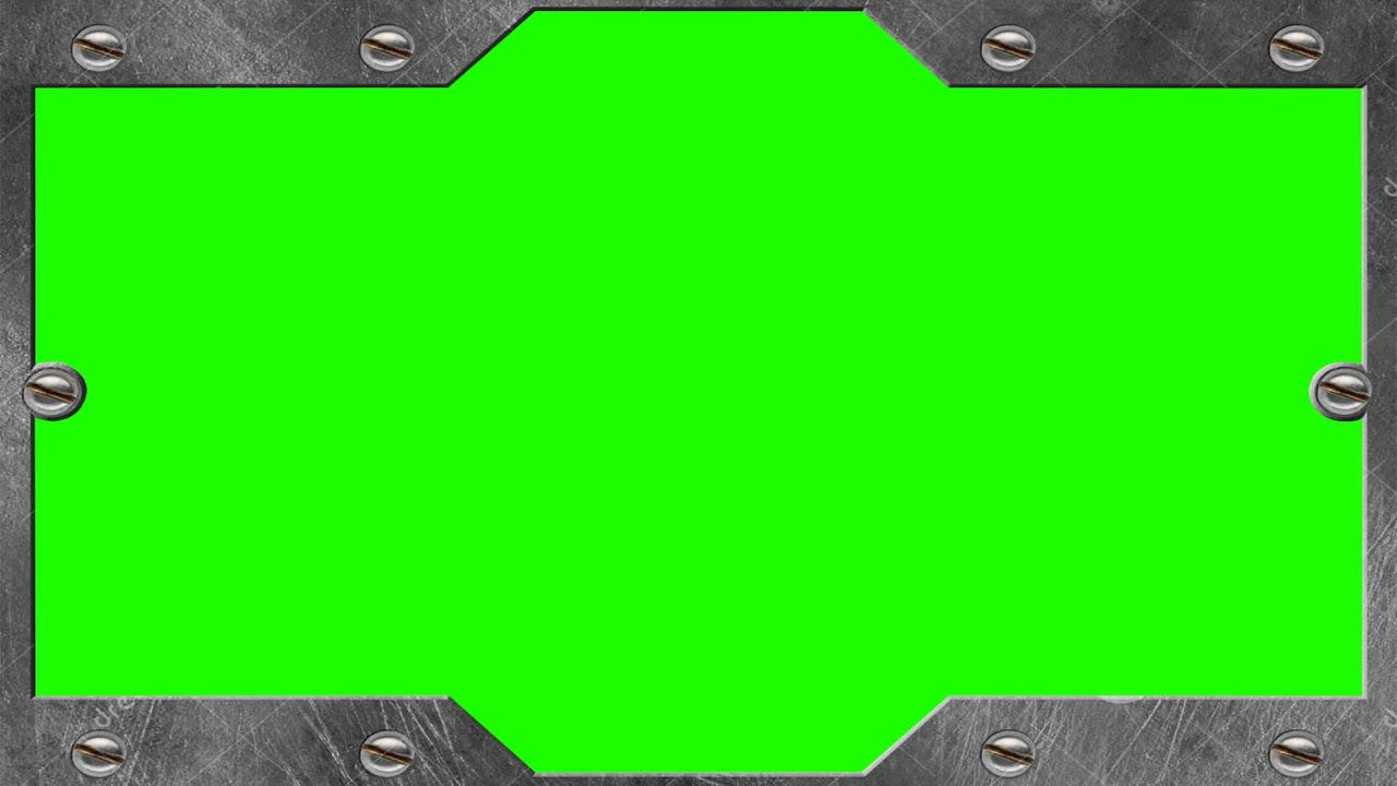 metal frame in green screen free stock footage youtube