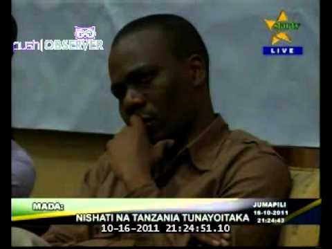 The 'Energy and the Tanzania we want' Debate on Star Tv 16/10/2011. Part One.