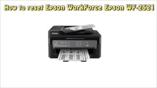 Reset Epson WF 2521 Waste Ink …