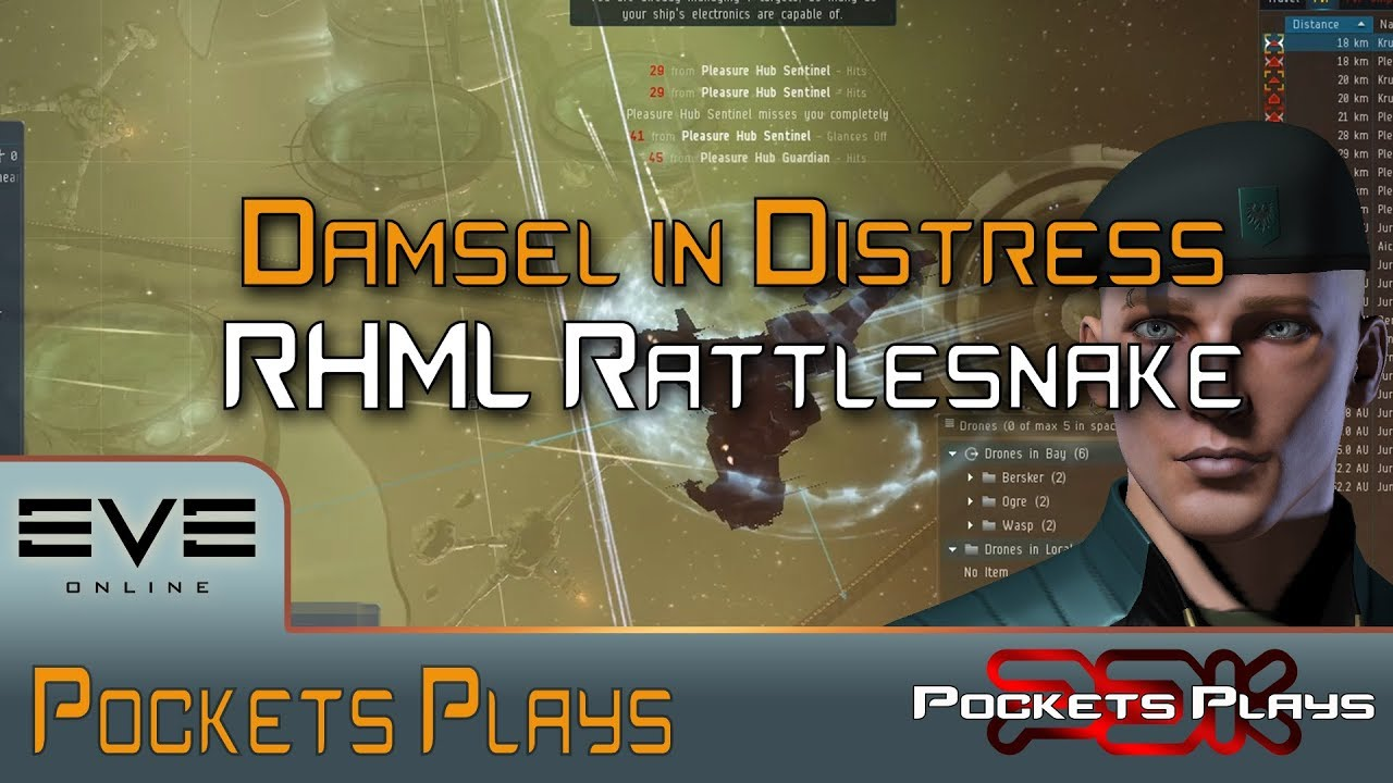 EVE Online: Damsel in Distress - RHML Rattlesnake fit!