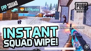 INSTANT SQUAD WIPE in 1ST FPP GAME BACK! PUBG Mobile