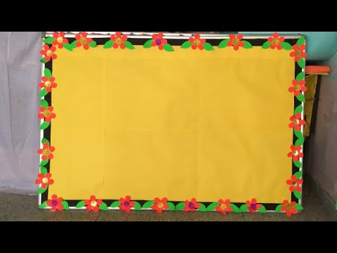 School notice board border decoration idea//soft board ...