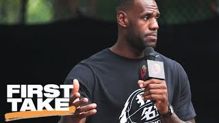 Stephen A. Smith Applauds LeBron James For Speaking Out | Final Take | First Take | ESPN