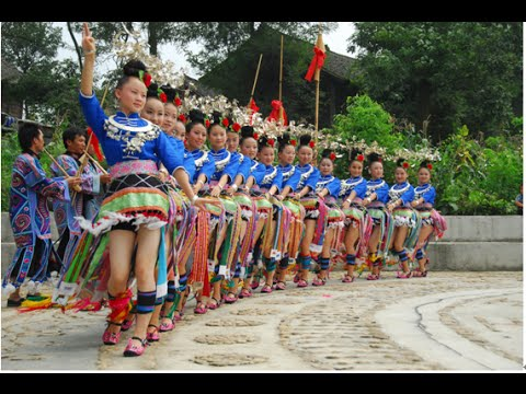 Golden Peasant Dance of Miao People