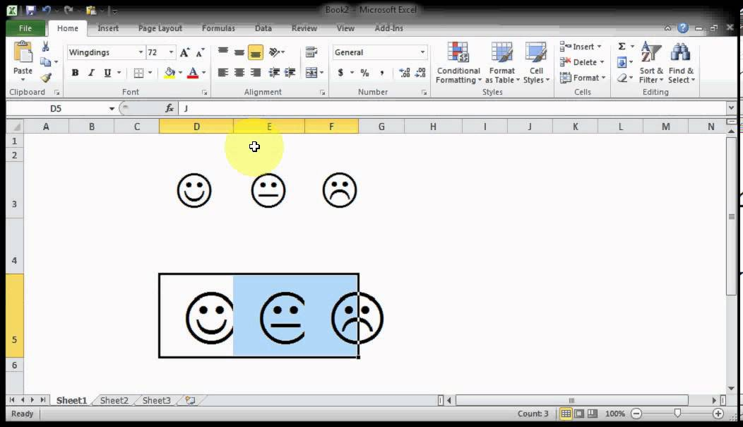 Microsoft Excel Tips Tricks How To Get Emoticon Symbols With