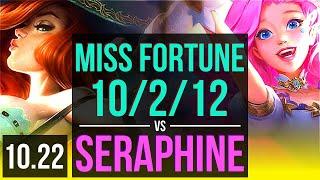 MISS FORTUNE & Alistar vs SERAPHINE & Pantheon (ADC)   10/2/12, 300+ games   NA Grandmaster   v10.22