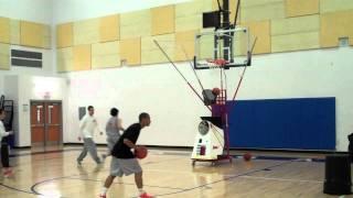 Basketball Academy shoots on 8000 Series Gun