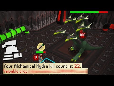 Alchemical Hydra Boss 75 Kills & First Unique Drop (Ultimate Ironman)