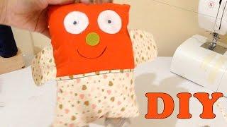 Ursinho de tecido Naninha para bebê Com Máquina de Costurar – DIY