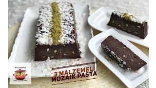 Sadece 3 malzeme ile mozaik pasta tarifi / Kek ve ganajın muhteşem buluşması / Ev Lezzetleri
