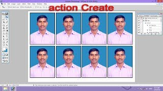 Photoshop tutorial in Hindi - Create Action Passport Size Photo Step by Step Process