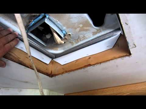 RV Travel Trailer ROOF Air Conditioner Install - YouTube