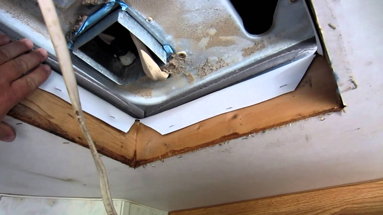hight resolution of rv travel trailer roof air conditioner install