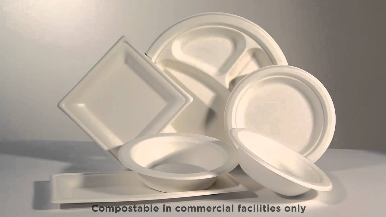 Eco-Products® Sugarcane Dinnerware & Eco-Products® Sugarcane Dinnerware - YouTube