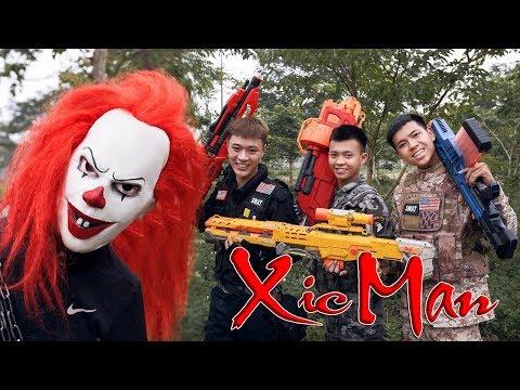 GUGU Nerf War : Police Patrol CID Dragon Nerf Guns Fight Criminal Group XICMAN Housekeeper