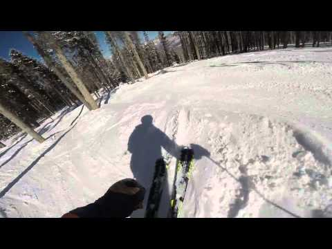 Skiing Aspen Tree Glades in Beaver Creek's Bachelor Gulch  2015