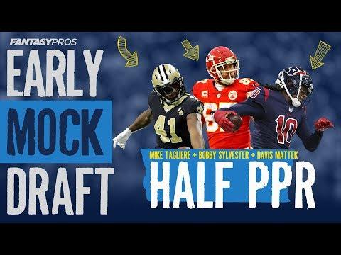 2019 Early Fantasy Football Mock Draft (Half-PPR)