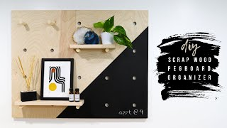 DIY Pegboard Wall Organizer For My Home Office From Scrap Wood!   How To
