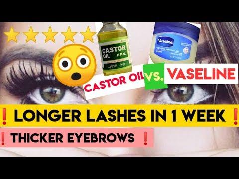 ❤️The BEST for longer lashes-Castor oil vs. Petroleum jelly