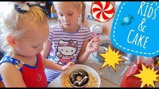 Готовят дети / дети готовят пирог / маленькие поворята / смешные детки
