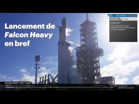 le lancement de la fus e falcon heavy de spacex en bref youtube. Black Bedroom Furniture Sets. Home Design Ideas
