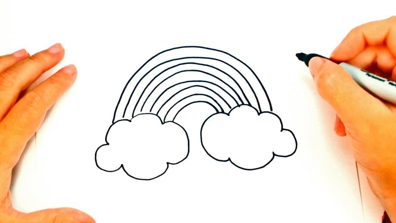 C mo dibujar un arco iris paso a paso dibujo f cil de for Comedor facil de dibujar