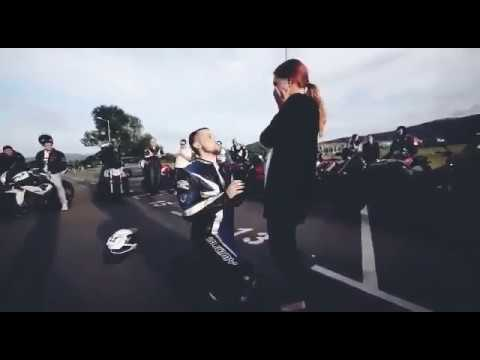 Mindblowing Biker proposal to lover #30seconds #whatsapp status