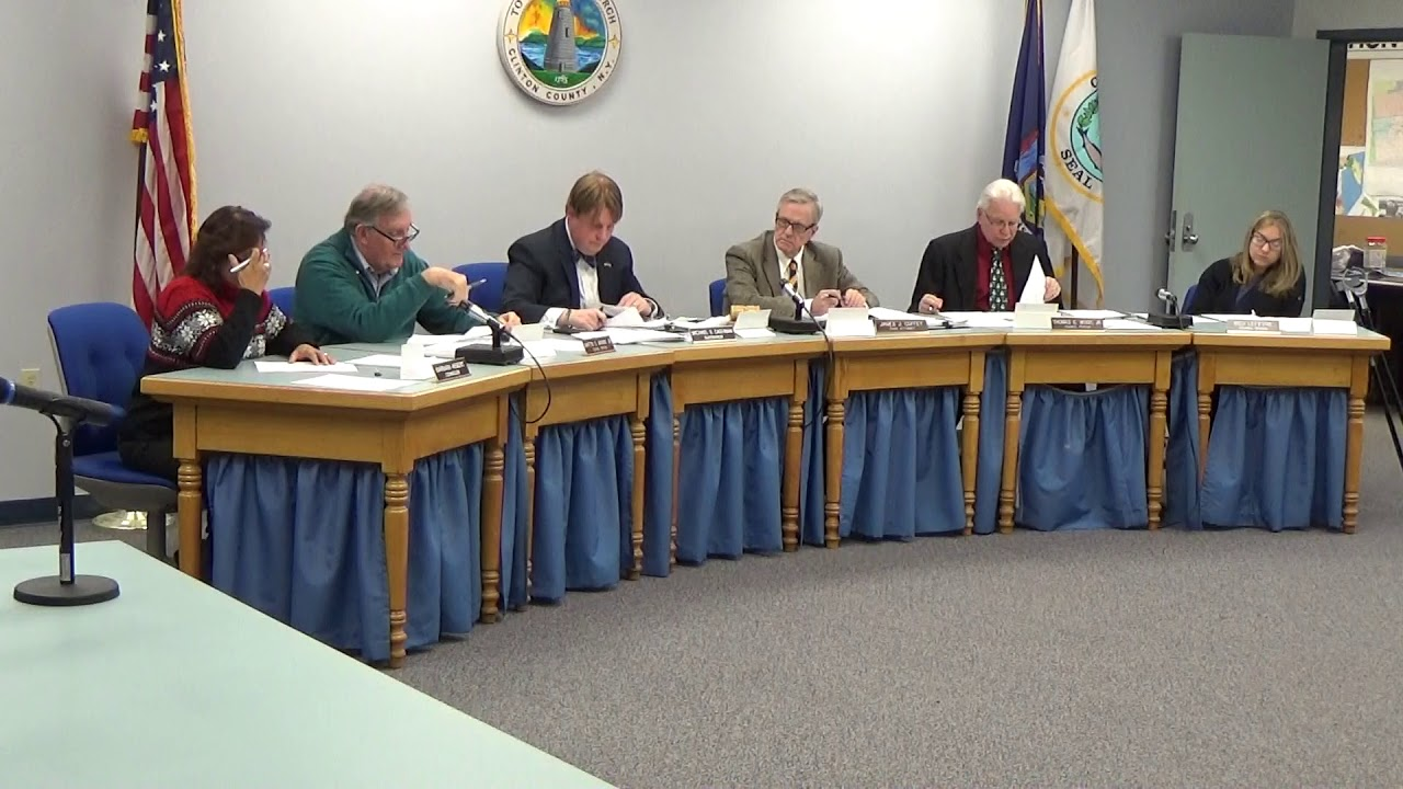 Town of Plattsburgh Meeting  12-21-17