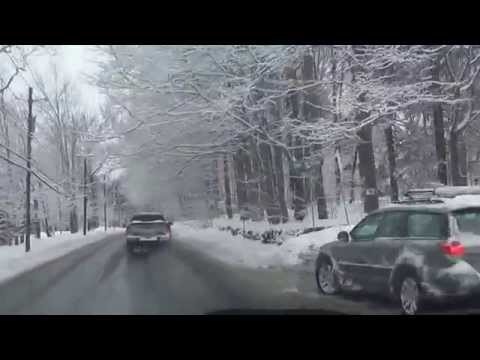 Driving through Snow Storm Conditions to Albany, New York - March 05, 2015