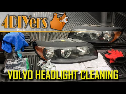 How to Clean the Headlight Projectors on a Volvo C30 S40 V50 C70