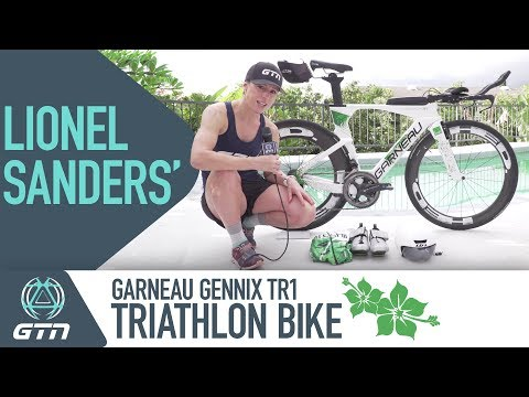 Lionel Sanders' Custom Garneau Gennix TR1 Triathlon Bike & Kit
